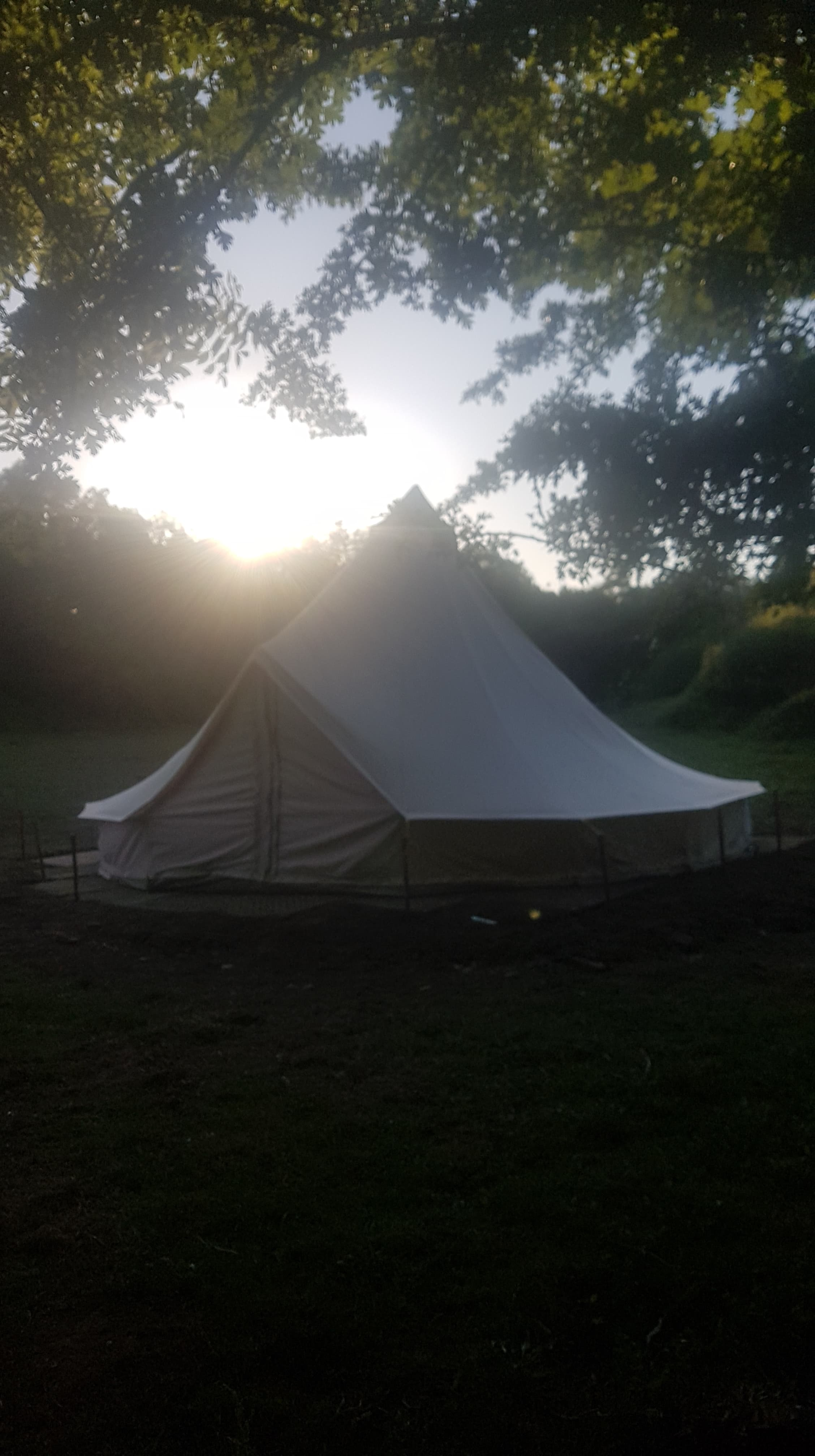 6m round tent that would be perfect for a romantic few nights away for a couple of an adventure for the Family.